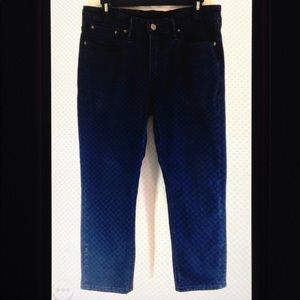 Levi Strauss 511 Straight Leg Denim Jeans Hemmed